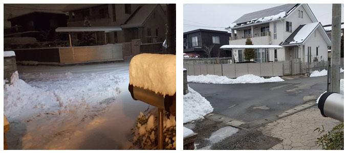 22cmの大雪