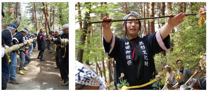 建立祭 初の女性木遣り師