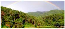 千鹿頭山に虹