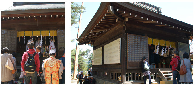 松本市重要文化財指定、千鹿頭神社拝殿