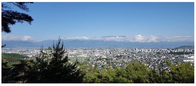 神田から北アルプスを見る